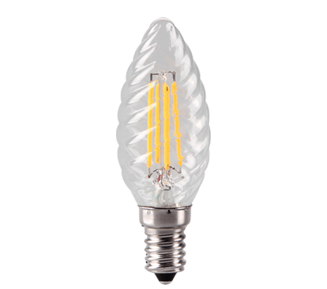 Clear Twisted Candle LED Filament