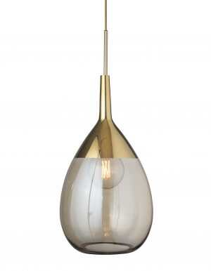 Lute Pendant Golden Smoke Gold