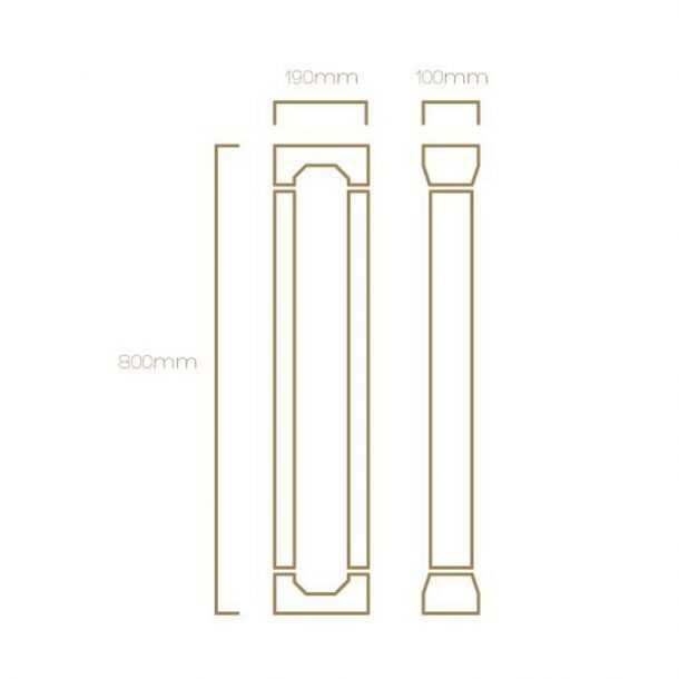 Technical Illustration of Muller Bollard Light