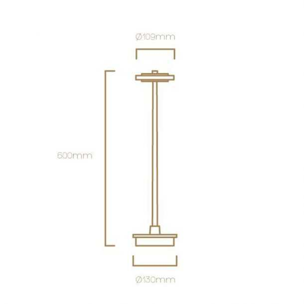 Technical Illustration of Small Invisible Floor Lamp