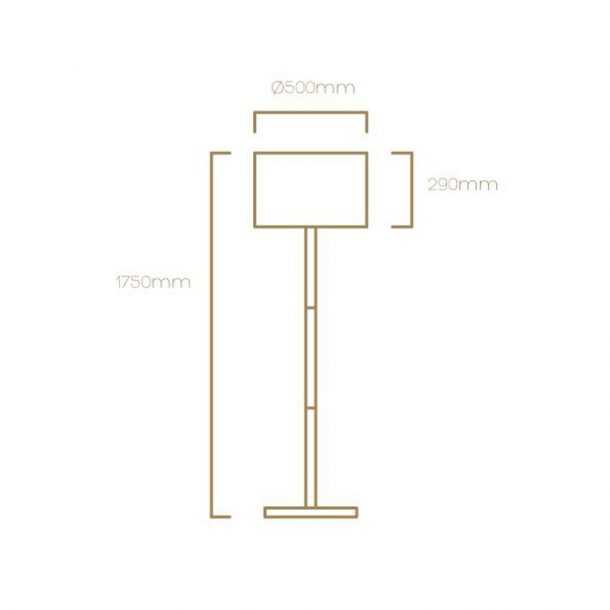 Technical Illustration of Smooth Floor Lamp