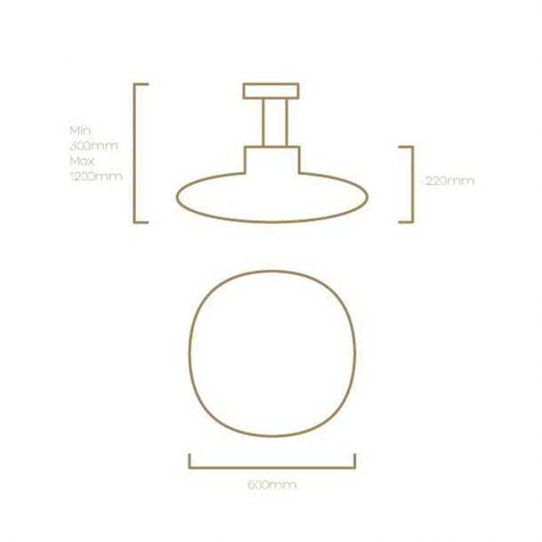 Technical Illustration of Kap Pendant