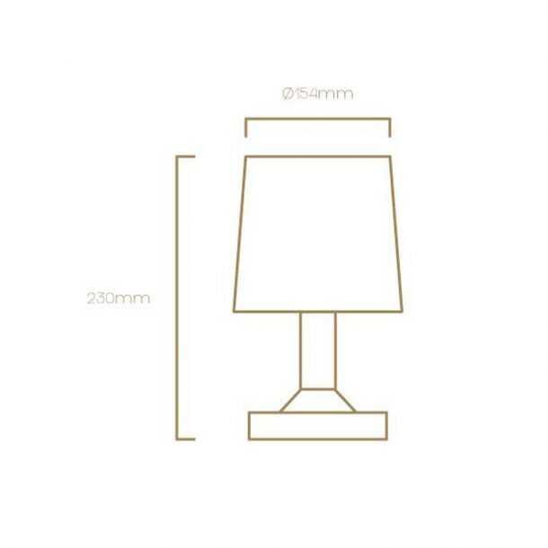 Technical Illustration of Moonlight Table Lamp