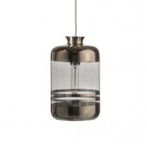 Pillar Pendant Platinum Stripe Grey