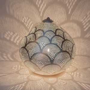 Princess Fan Lamp Silver