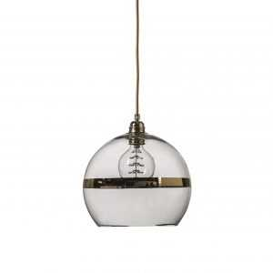 Rowan Pendant Gold Stripe Clear