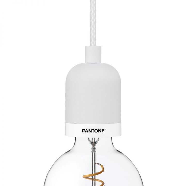 PANTONE Deneb Drop Cap Pendant Brilliant White