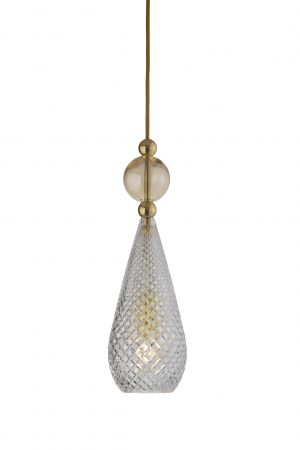 Smykke Pendant Golden Smoke Ball Crystal
