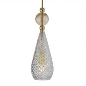 Smykke Pendant Golden Smoke Ball Crystal