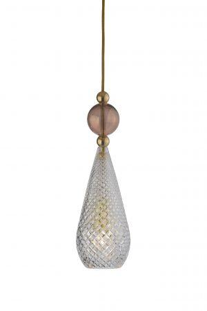 Smykke Pendant Obsidian Ball Crystal Gold