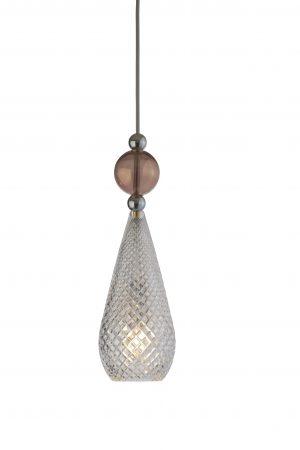 Smykke Pendant Obsidian Ball Crystal Silver