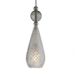 Smykke Pendant Smokey Grey Ball Crystal