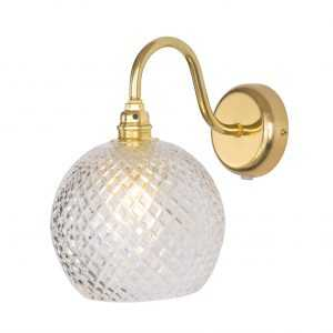 Rowan Wall Lamp Small Check Gold