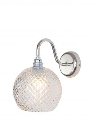 Rowan Wall Lamp Small Check Silver