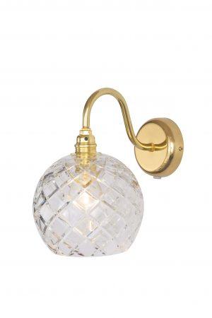 Rowan Wall Lamp Medium Check Gold