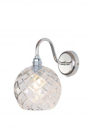 Rowan Wall Lamp Medium Check Silver