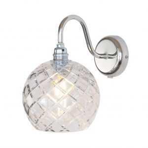 Rowan Wall Lamp Medium Check Silver