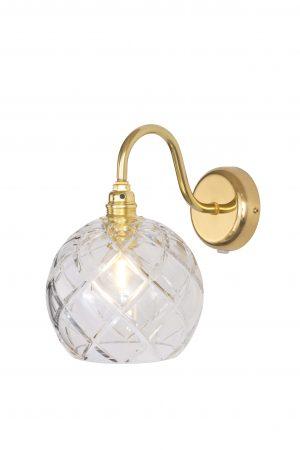 Rowan Wall Lamp Large Check Gold