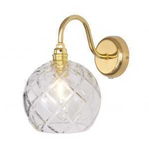 Rowan Wall Lamp Large Check Gold
