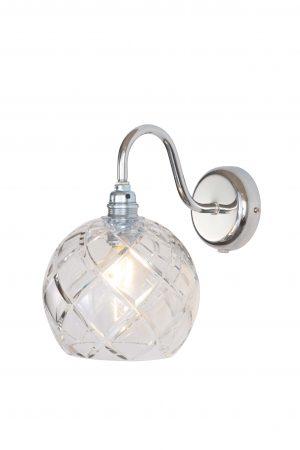 Rowan Wall Lamp Large Check Silver