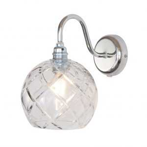Rowan Wall Lamp Large Check Silver