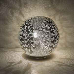 Ball Blossom Lamp Silver