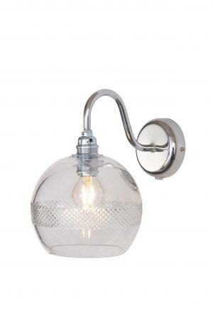 Rowan Wall Lamp Mini Stripe Silver