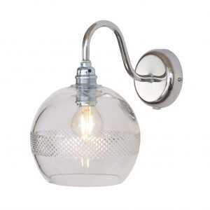 Rowan Wall Lamp Mini Stripe Silver