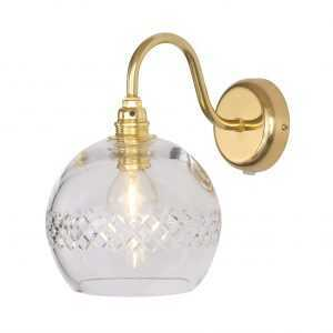 Rowan Wall Lamp Medium Stripe Gold