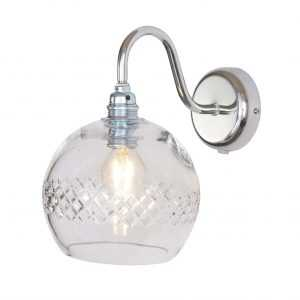 Rowan Wall Lamp Medium Stripe Silver