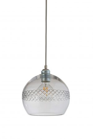 Rowan Pendant Medium Stripe Silver