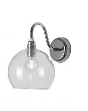 Rowan Wall Lamp Clear Silver