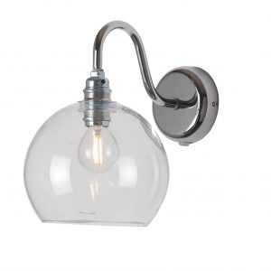Rowan Wall Lamp Clear Silver