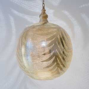 Ball Leaf Pendant Gold