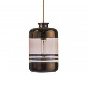 Pillar Pendant Copper Stripe Obsidian