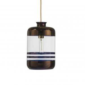 Pillar Pendant Copper Stripe Clear