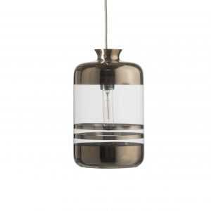 Pillar Pendant Platinum Stripe Clear