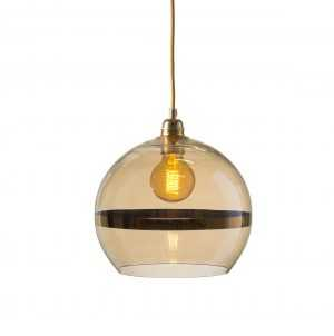 Rowan Pendant Gold Stripe Golden Smoke
