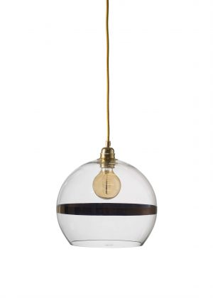 Rowan Pendant Copper Stripe Clear