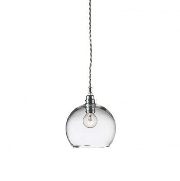 Rowan Pendant Clear Silver