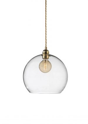 Rowan Pendant Clear Gold