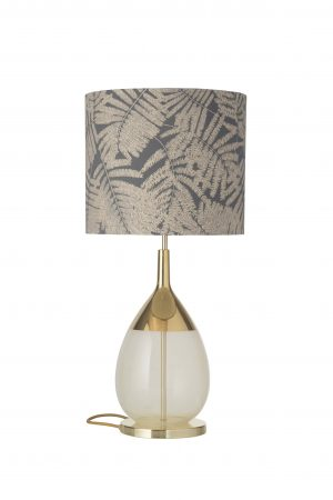 Lute Table Lamp Gold Alabaster and Shade