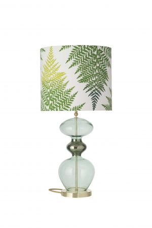 Futura Table Lamp Forest Green and Shade