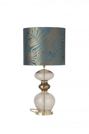Futura Table Lamp Chestnut Brown and Shade