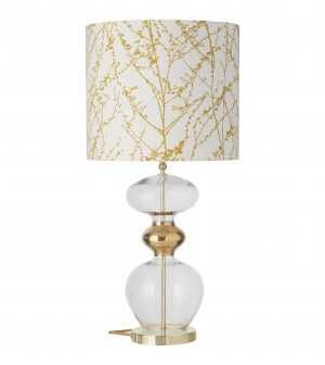 Futura Table Lamp Clear Gold and Shade