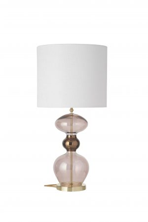 Futura Table Lamp Obsidian Gold and Shade