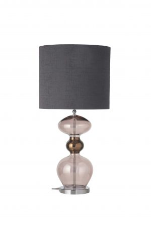 Futura Table Lamp Obsidian Silver and Shade