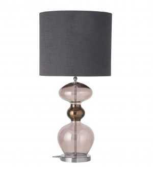 Futura Table Lamp Obsidian Silver and Shade