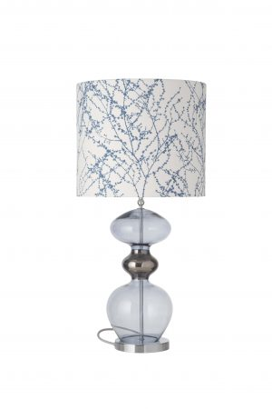 Futura Table Lamp Deep Blue and Shade