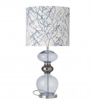 Futura Table Lamp Deep Blue and Shade